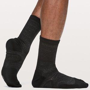 Lululemon T.H.E. Crew Sock *Silver - black